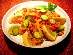 夏野菜いっぱいのタイ風カレーライスサラダ