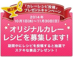 第2弾「カレーレシピ投稿」プレゼントキャンペーンただいま開催中!11月30日まで