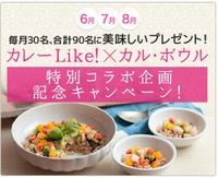 本日より「カレーLike!×カル・ボウル」特別コラボ企画記念キャンペーンがスタート!