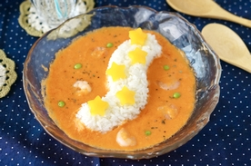 """カリフォルニアのおコメ「カルローズ」で作る、""""ハッピーイベントレシピ """"冷製トマトスープカルローズ~七夕仕立て~"""
