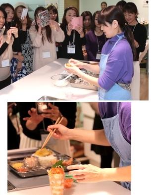 SUSHIカルローズのキャンペーンとイベントを展開。カワイイ食卓研究家・きゃらきゃらさんがその場でつくる新感覚『食べてみたいSUSHIカルローズレシピ』